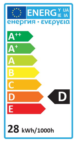 Energy Label D 28w